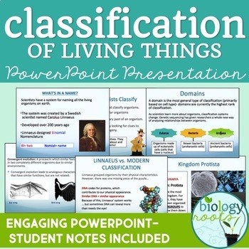 Classification of Living Things PowerPoint (student notes