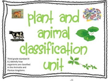 Classification of Plants and Animals