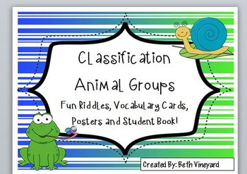 Classify Animal Groups for Primary