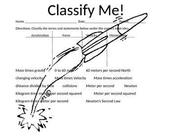 Classify Me! Force Terms and Statements