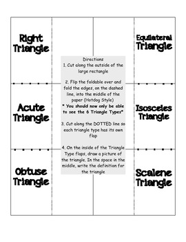 Classify Triangles Foldable