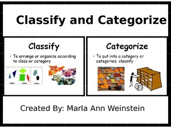 Classify and Catergorize PowerPoint