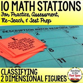 Classifying 2D Figures Test Prep Math Stations