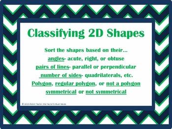 Classifying 2D Shapes