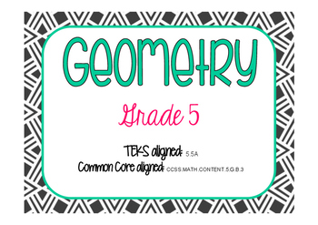 Classifying 2D Shapes Task Cards (GRADE 5)
