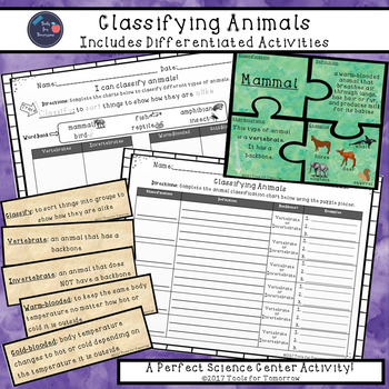 Classifying Animals Activity