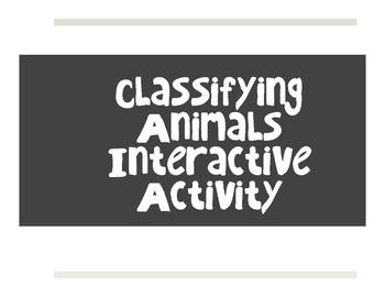 Classifying Animals Interactive Activity