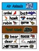 Classifying Animals sorting activity