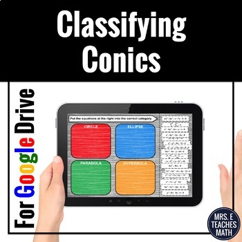 Classifying Conics Card Sort Digital Activity