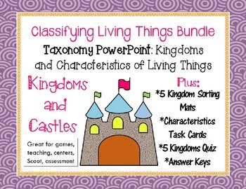Kingdoms & Classifying Living Things BUNDLE- PowerPoint, T