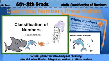 6th Grade Math: Classifying Numbers Presentation (PDF pres