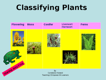 Classifying Plants Engaging Power Point Presentation Speci