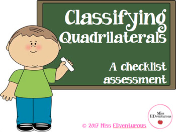 Classifying Quadrilaterals Checklist Packet