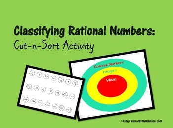Classifying Rational Numbers Cut-n-Sort Activity