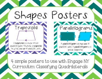 Classifying Shapes Common Core Engage NY Posters