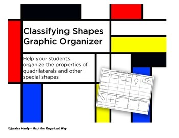 Classifying Shapes Graphic Organizer - Intro to Coordinate Proofs