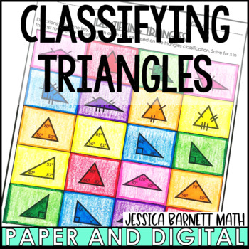 Classifying Triangles Coloring Activity