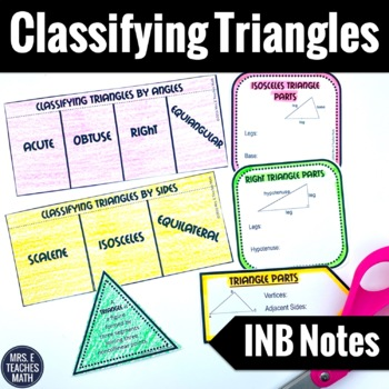 Classifying Triangles Interactive Notebook Pages
