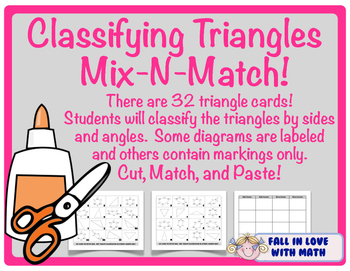Classifying Triangles Mix-N-Match!