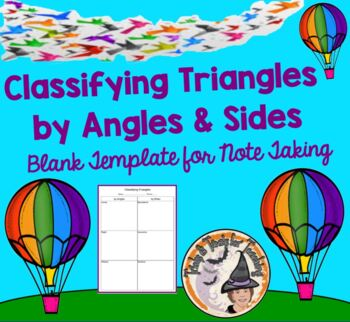 Classifying Triangles by Angles and Sides Student Notes Gr