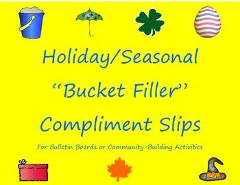 """""""Bucket Filler"""" Compliment Slips Bundle: 7 Holiday/Seasona"""