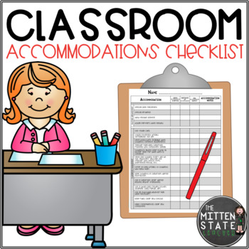 Classroom Accommodation Checklist