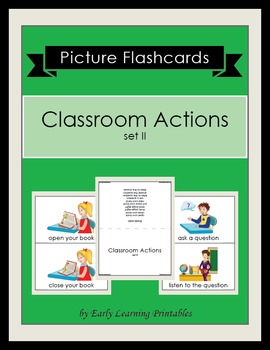 Classroom Actions (set II) Picture Flashcards