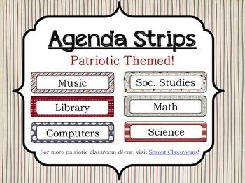 Classroom Agenda Strips