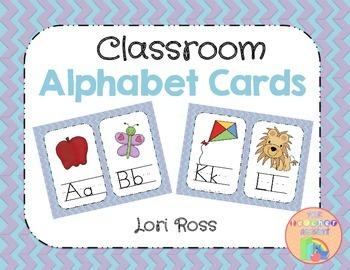 Alphabet Cards {for the Classroom}
