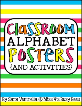 Classroom Alphabet Posters & Activities {Bright Colors}