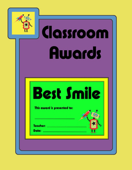 Robot Theme End of Year Classroom Awards