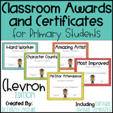 Classroom Awards & Certificates for Primary Students {Chevron}