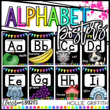 Classroom BRIGHTS Alphabet Posters