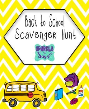 Classroom Back to School Scavenger Hunt {Editable}