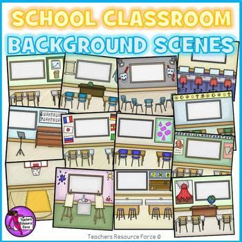 Classroom Background Scenes Clip Art