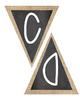 Classroom Banner Triangle Pennants - Burlap and Chalkboard