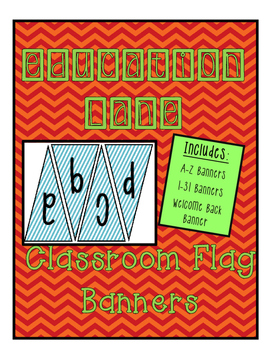 Classroom Banners (Blue and White)