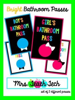 Bright Bathroom Passes