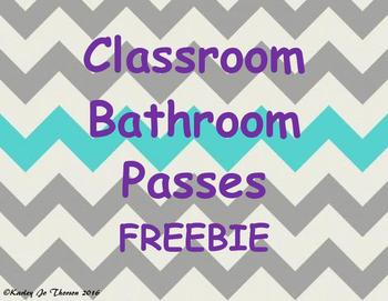 Classroom Bathroom Passes Freebie
