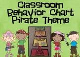 Classroom Behavior Chart: Pirate Theme