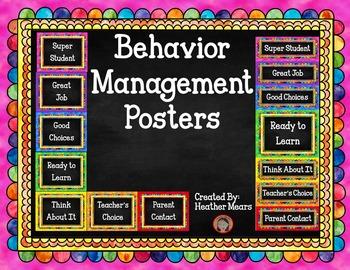Classroom Behavior Charts watercolor