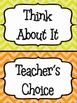 Classroom Behavior Clip Chart W/ Matching Weekly Log