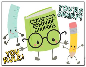 FREEBIE Classroom Behavior Coupon Storage Label