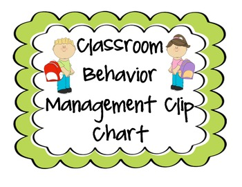 Classroom Behavior Management Clip Chart