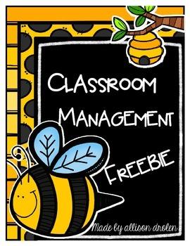 Classroom Behavior Managment Freebie
