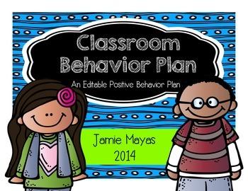 Classroom Behavior Plan {An Editable Positive Behavior Plan}