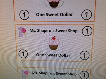"Classroom Behavior System ""Sweet Dollars."""