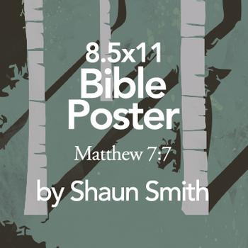 Classroom Bible Poster - Matthew 7:7