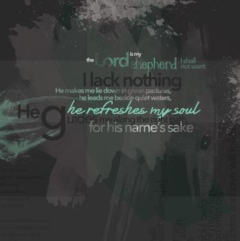 Classroom Bible Poster - Psalm 23