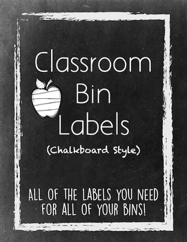 Classroom Bin Labels (Chalkboard Style)